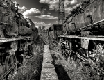 Graveyard of the old steam trains